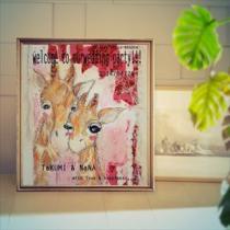 ARTウェルカムボード-Kirin(楽しさ)- iLodoriウェルカムボード制作