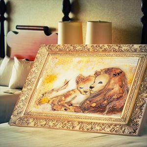 ARTウェルカムボード-Lion(守るよ)- iLodoriウェルカムボード制作